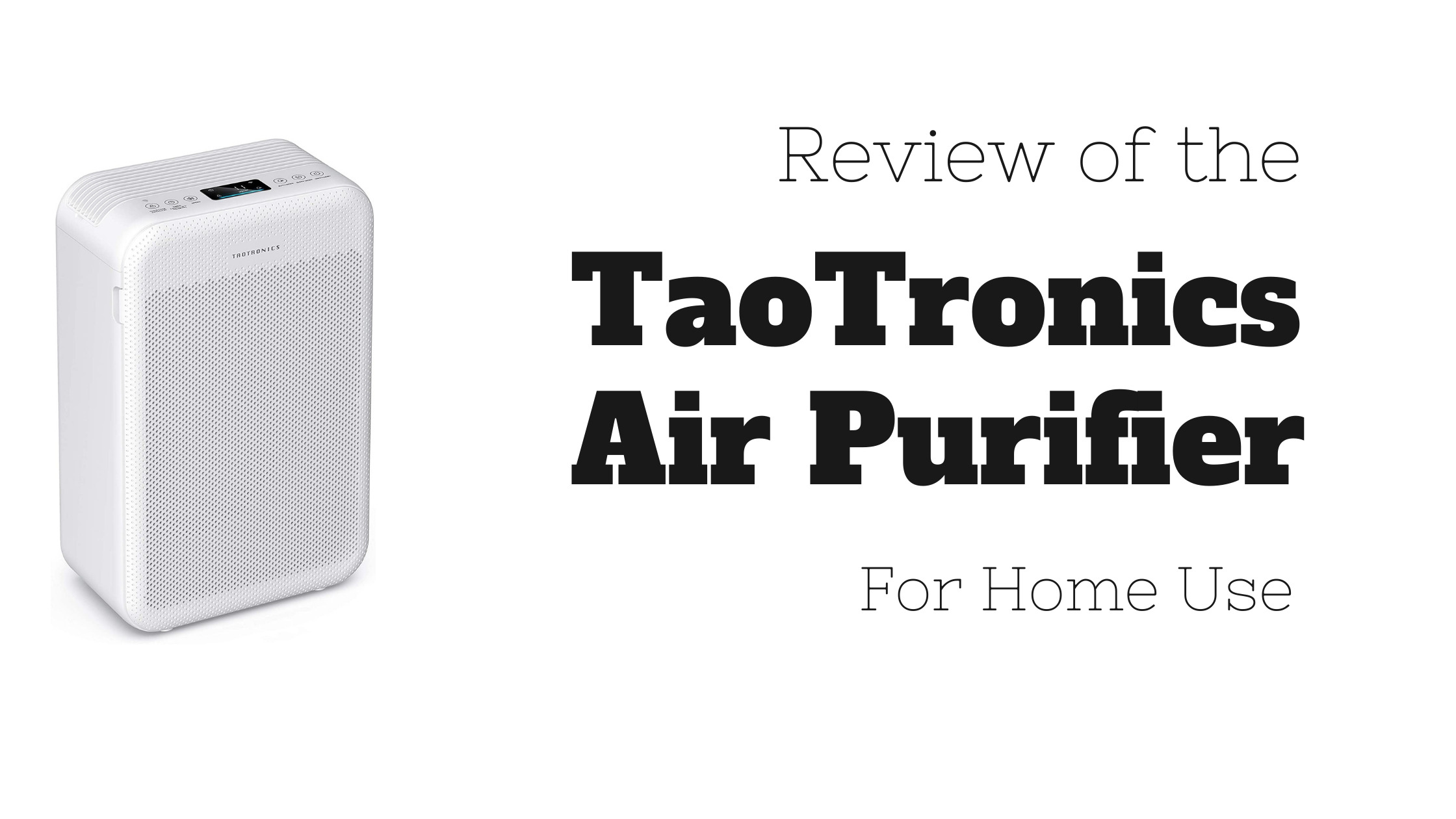 TaoTronics Air Purifier